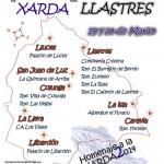 Cartel del homenaje a la Xarda 2014, establecimientos y ofertas gastronómicas