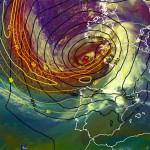 Mapa meteorológico del ciclón «Petra»